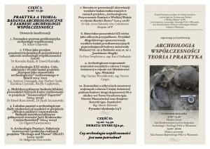 ARCHEOLOGIA WSPÓŁCZESNOŚCI  17.06.2016-kopia